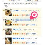 食べログ最適化(ラーメン店・所沢)