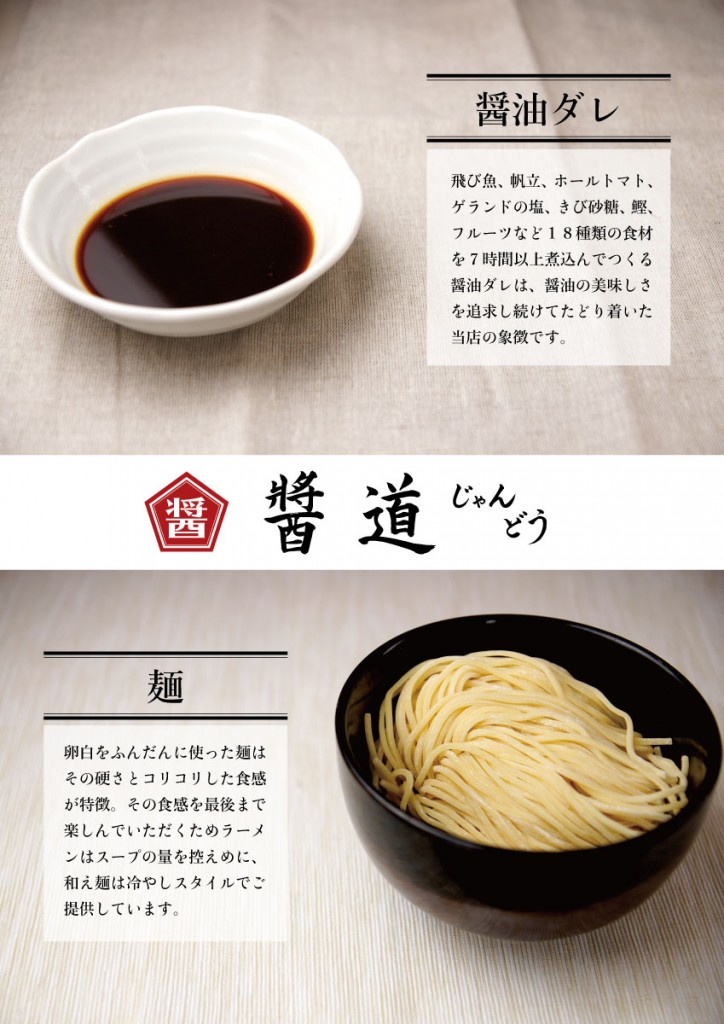 醤油ダレと麺